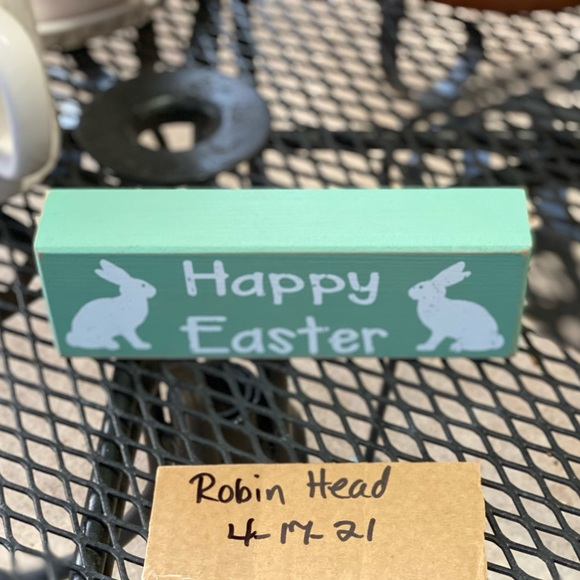 Happy Easter wood sign